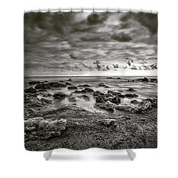 Shower Curtain featuring the photograph Malibu Clouds by John Rodrigues