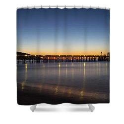 Malibu Pier At Sunrise Shower Curtain