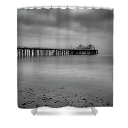 Shower Curtain featuring the photograph Malibu Pier by John Rodrigues