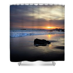 Shower Curtain featuring the photograph Malibu Sunset by John Rodrigues