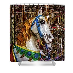 Mall Of Asia Carousel 1 Shower Curtain