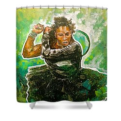 Mama Said Knock You Out Shower Curtain