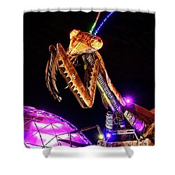Shower Curtain featuring the photograph Mantis by Skip Hunt