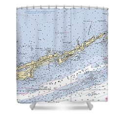 Marathon And Duck Keys Custom Noaa Nautical Chart Shower Curtain