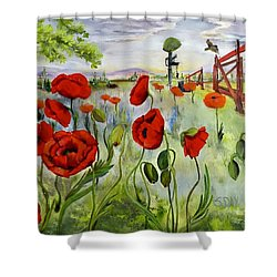 March With You Shower Curtain
