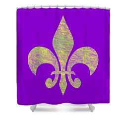 Mardi Gras Party Fleur De Lis Shower Curtain