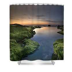 Marine Sunset Shower Curtain