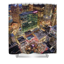 Market Square From Above  Shower Curtain