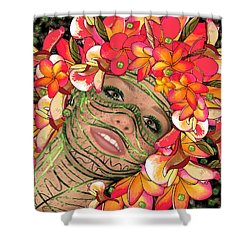 Mask Freckles And Flowers Shower Curtain