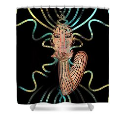 Mask I Cast My Spell You Are Mine Shower Curtain