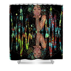 Mask On My Frequency Shower Curtain
