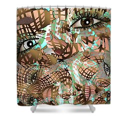 Mask Past Present Future Shower Curtain