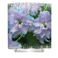 Mauves And Blues Shower Curtain