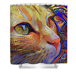 Max The Ginger Cat Shower Curtain