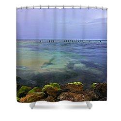 Mayan Sea Rocks Shower Curtain