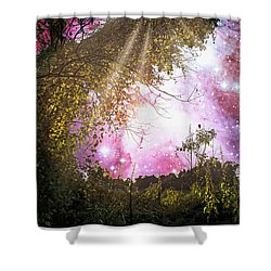 Meadow Starry Night Shower Curtain