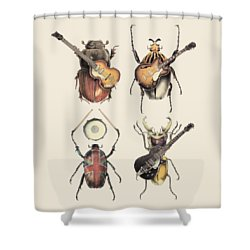 Meet The Beetles Shower Curtain