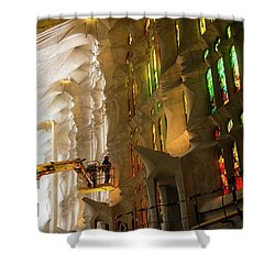 Shower Curtain featuring the photograph Men At Work by Alex Lapidus