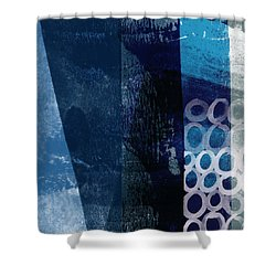 Shower Curtain featuring the mixed media Mestro 6- Abstract Art By Linda Woods by Linda Woods