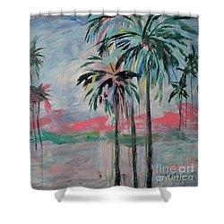 Miami Palms Shower Curtain