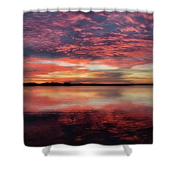 Mid October Sunset Shower Curtain