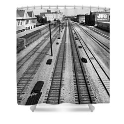 Middle Of The Tracks Shower Curtain