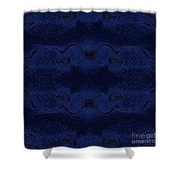 Shower Curtain featuring the digital art Midnight Blue by Rachel Hannah