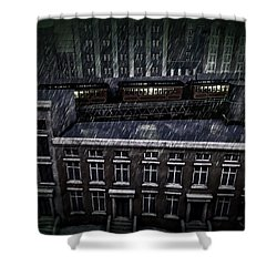 Midnight Train Shower Curtain