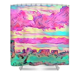Mile High Sunset Shower Curtain