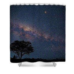 Milky Way Over Africa Shower Curtain