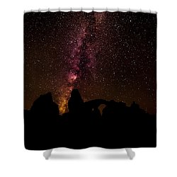Shower Curtain featuring the photograph Milky Way Over Turret Arch by Andy Crawford