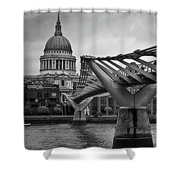 Millennium Bridge 01 Shower Curtain