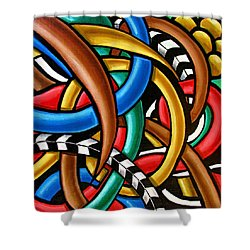 Colorful Abstract Art Painting Chromatic Intuitive Energy Art - Ai P. Nilson Shower Curtain