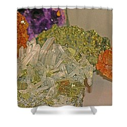 Shower Curtain featuring the photograph Mineral Medley 7 by Lynda Lehmann