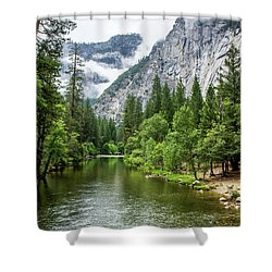 Misty Mountains, Yosemite Shower Curtain