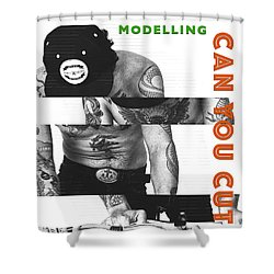 Modelling Can You Cut It? Shower Curtain