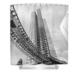Shower Curtain featuring the photograph Modern by Alex Lapidus