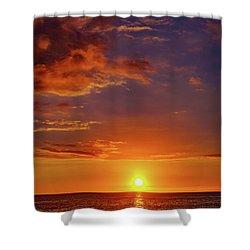 Monday Sunset Shower Curtain