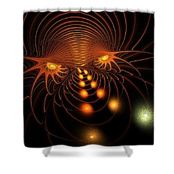 Shower Curtain featuring the digital art Monster's Eyes by Anastasiya Malakhova