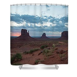 Monument Valley Before Sunrise Shower Curtain