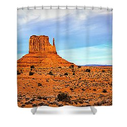 Shower Curtain featuring the photograph Monument Valley by David Morefield