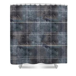 Moody Blue Plaid Shower Curtain