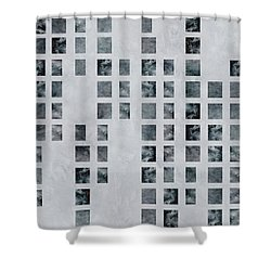 Moody Blues Data Pattern Shower Curtain