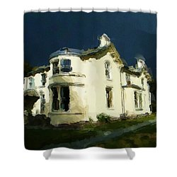 Moody Sky Over Allenbank Painting Shower Curtain
