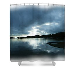 Moody Sky Painting Shower Curtain