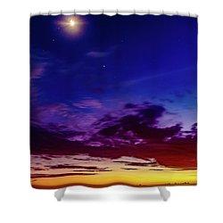 Moon Sky Shower Curtain
