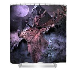 Moonlight Buck Shower Curtain