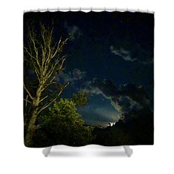 Moonlight In The Trees Shower Curtain