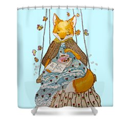 Morgan's Fox Shower Curtain