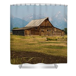 Mormon Barn Shower Curtain